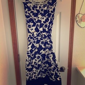 The Limited Size Large black/white floral dress